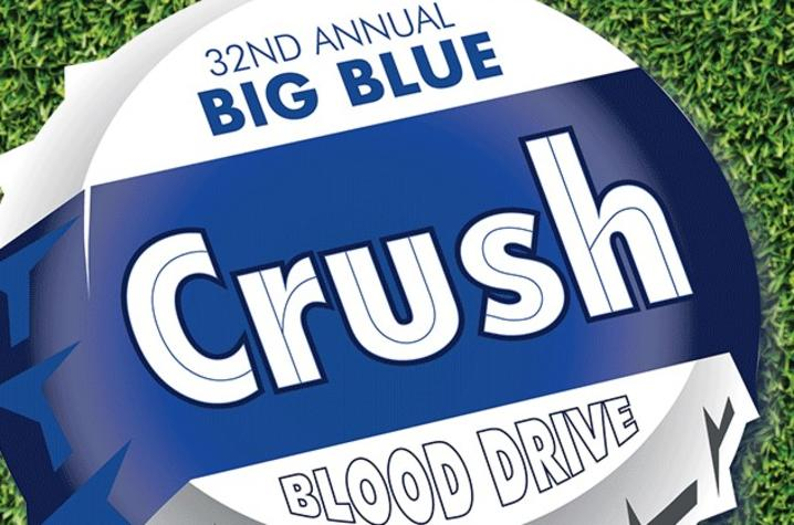 logo that says 32nd Annual Big Blue Crush Blood Drive