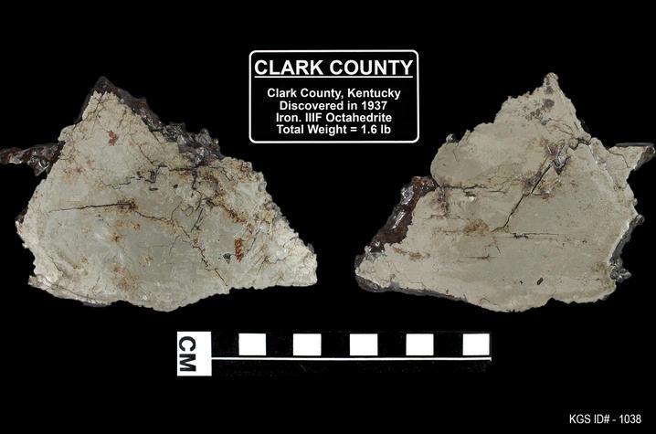 photo of meteorite in Clark County, Kentucky