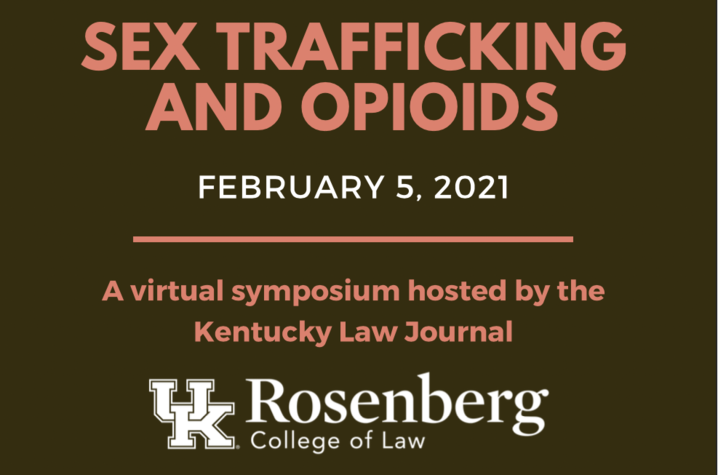 """""""Sex Trafficking and Opioids"""" flyer with text details"""