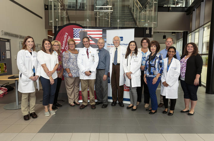 Photo of the ALS Clinic staff at UK HealthCare's Kentucky Neuroscience Institute