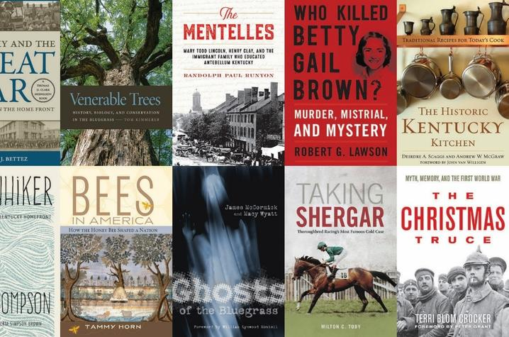 photo 10 book covers featured in Kentucky Proud Evenings