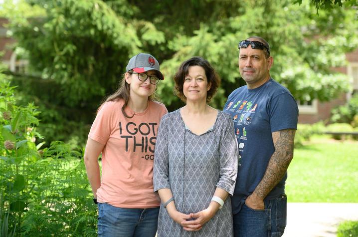 Kaitlin, Kathy and Robert Caldwell