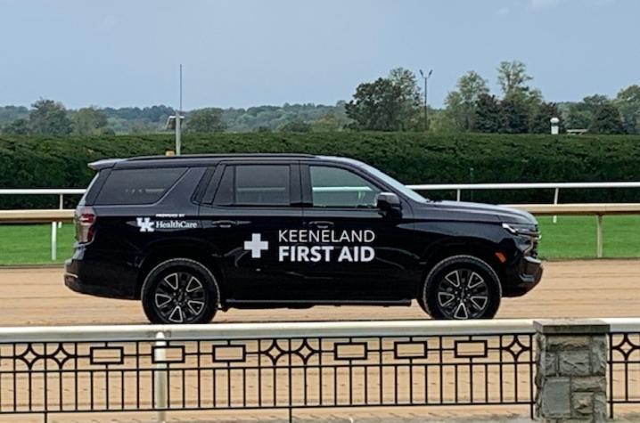 Keeneland/UK HealthCare chase vehicle