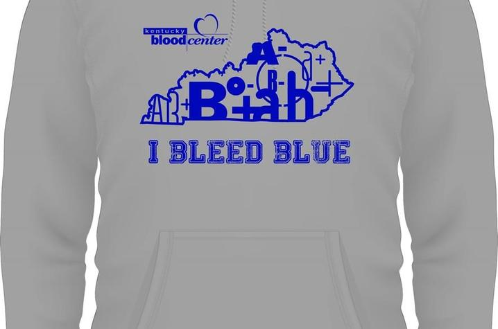 picture of I Bleed Blue sweatshirt