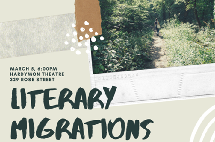 "photo of poster for 2020 Lafayette Seminar ""Literary Migrations"""