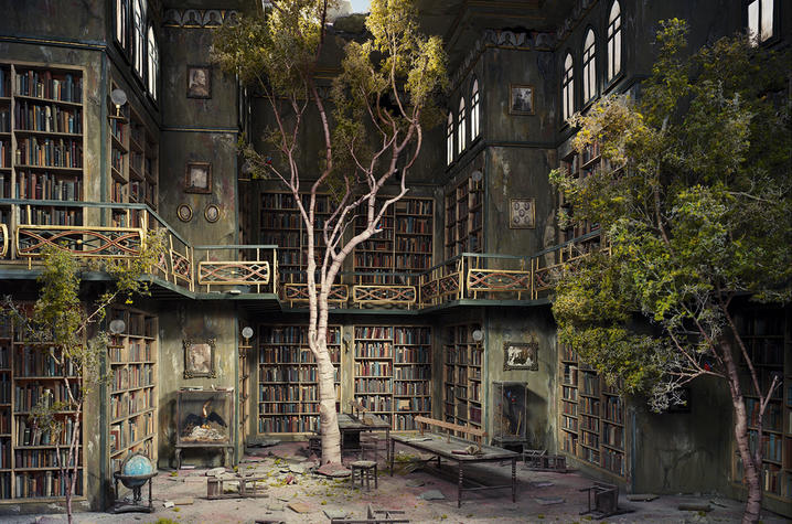 "photo of ""Library"" from ""The City"" by Lori Nix"