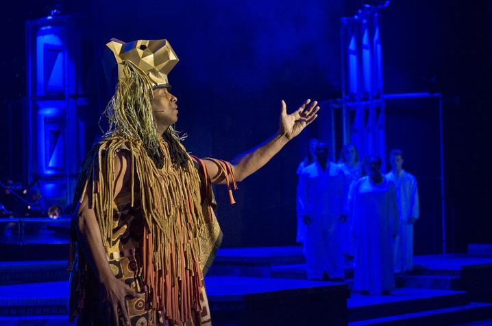 """photo of performance of music from """"Lion King"""" at 2019 """"It's a Grand Night for Singing!"""""""