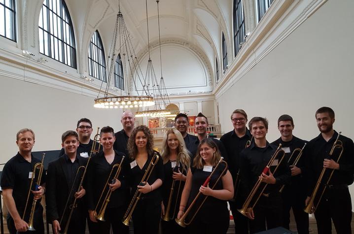 photo of UK Baroque Trumpet Ensemble and John Foster in Metropolitan Museum of Art