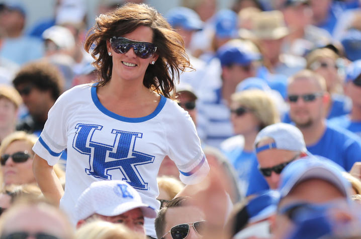 Michelle Huang at UK football game, 2014.