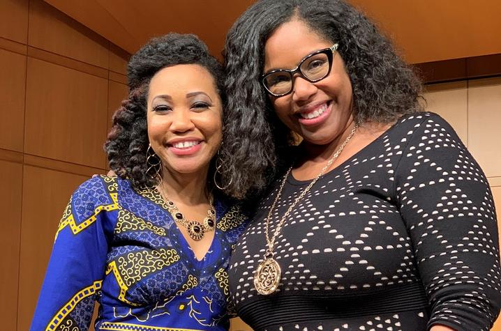 photo of Makeda Hampton with Angelique Clay