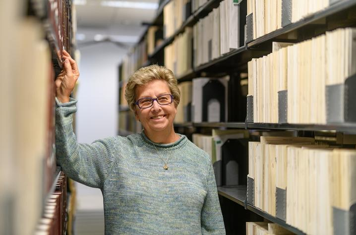 Sandra McAninch at UK's W.T. Young Library.