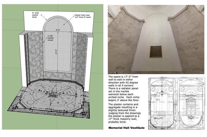 photo of Memorial Hall vestibule details