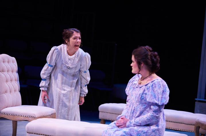 "photo of Myranda Thomas and Casey Shuler in ""Sense and Sensibility"" - UK Theatre"