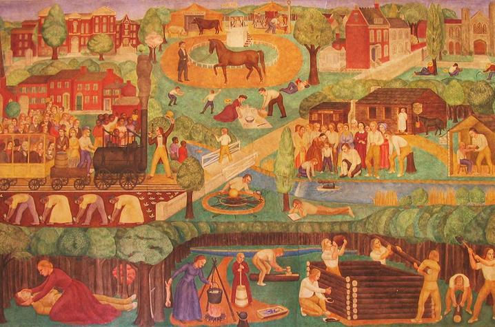 detail photo from Ann Rice O'Hanlon mural