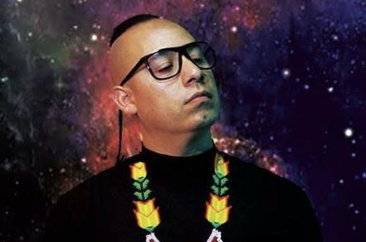 photo of Latinx hip-hop artist Olmeca
