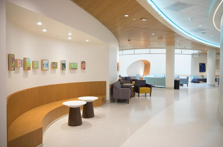 The Circle of Blue Pediatric Sedation and Procedure Unit Lobby