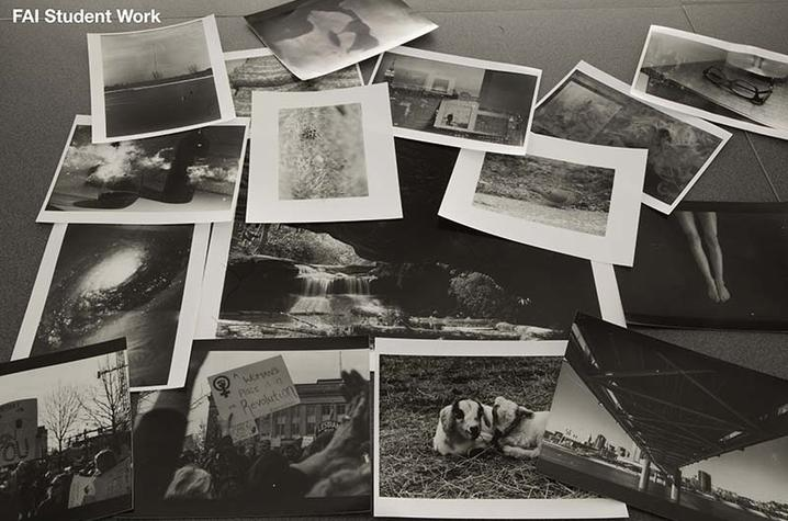 photo of photos from students at Fine Arts Institute