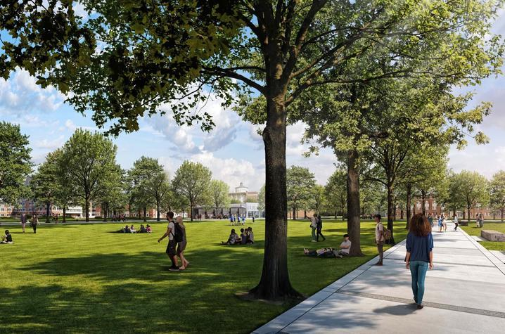Rendering of future green space