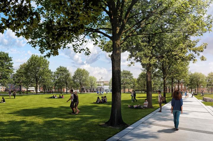 rendering of proposed green space
