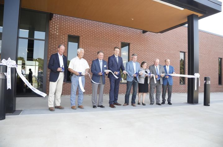 photo of ribbon cutting at Grain and Forage Center of Excellence in Princeton