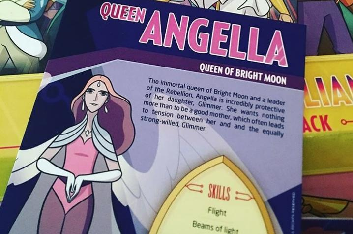"photo of promo materials for ""She-Ra"""