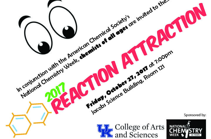 "photo of ""Reaction Attraction"" poster"