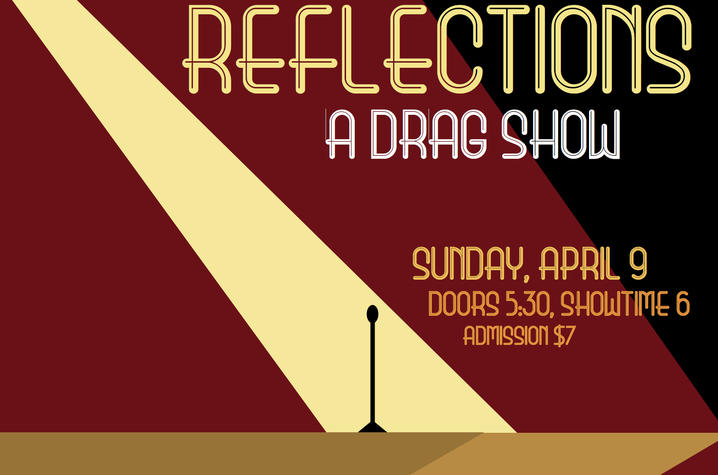 "photo of poster for ""Reflections: A Drag Show"""