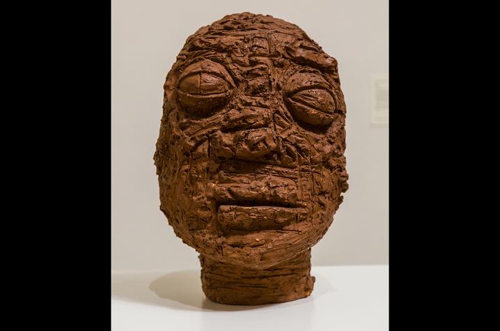 "photo of sculpture ""Head"" by Reuben Kadish"