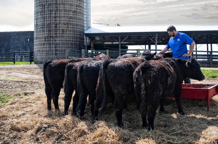 This is a photo of Jacob Tamme on the farm.