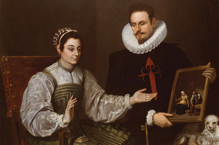 "photo of ""A Knight of Santiago and His Lady,"" UK Art Museum/Gaines Challenge Fund"