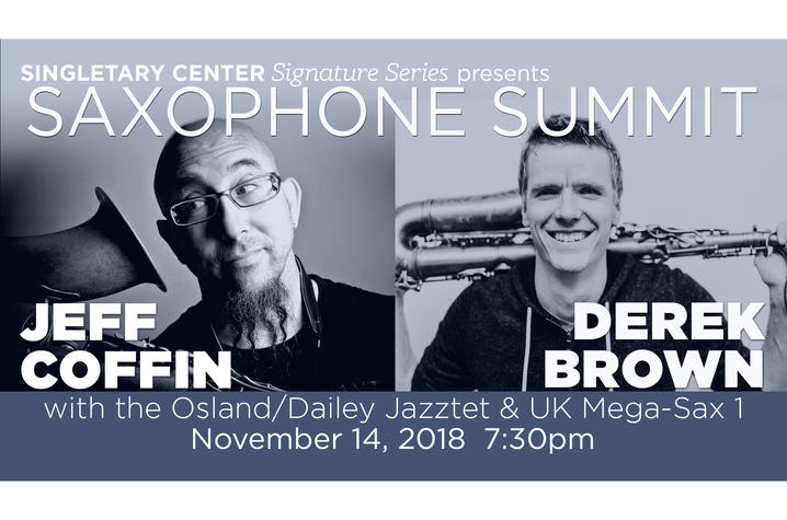 "photo of web banner for ""Saxophone Summit"""