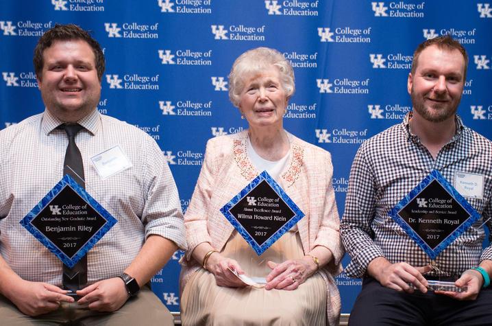 Photo of UK College of Education alumni award winners