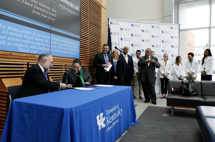 Photo from UK College of Pharmacy/KSU partnership announcement