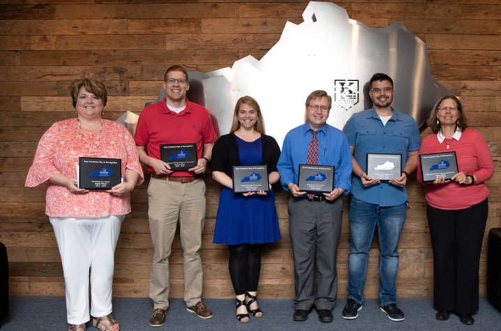 Individuals recognized with awards during the Ken Freedman Day of Recognition.