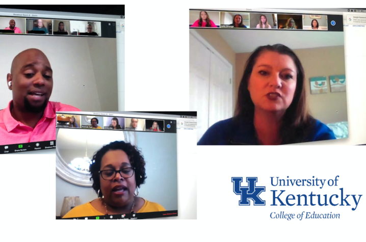 UK student teachers participated in virtual mock interviews.