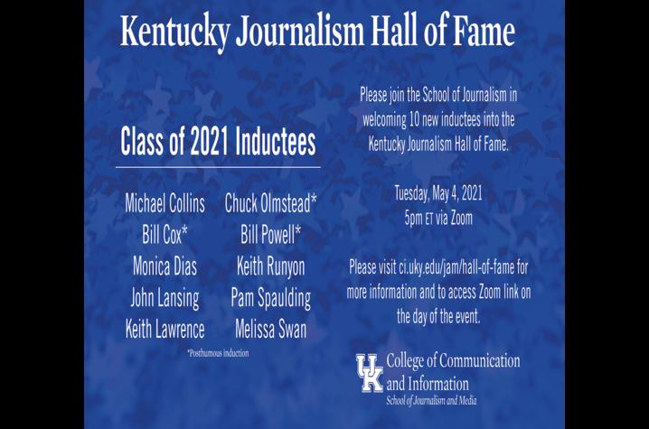 Class of 2021 Kentucky Journalism Hall of Fame