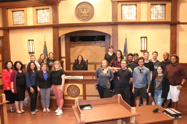"""CI students and alumni work with other UK alumni at Wrigley Media Group to produce """"Relative Justice,"""" the first nationally syndicated television show taped in Kentucky."""