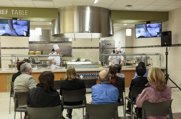 "Photo of ""Chefs in Action"" at UK Chandler Dining.  Photo:  James K. Morris"