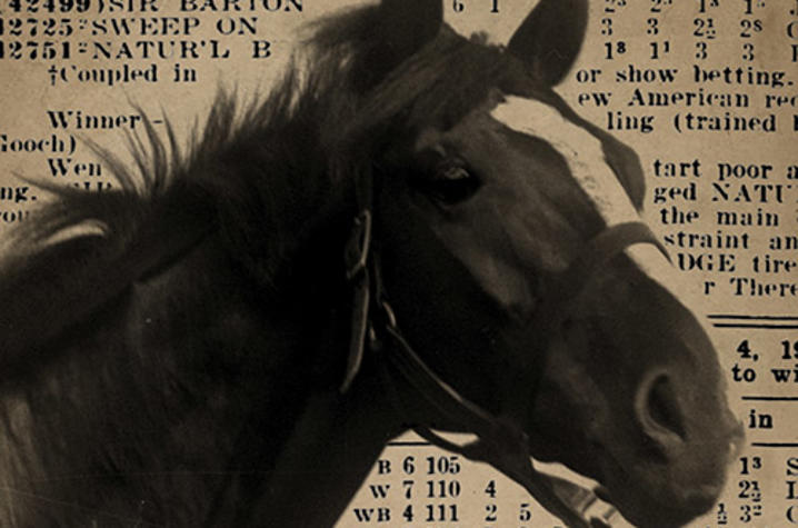 """photo of cover of """"Sir Barton and the Making of the Triple Crown"""" by Jennifer S. Kelly"""