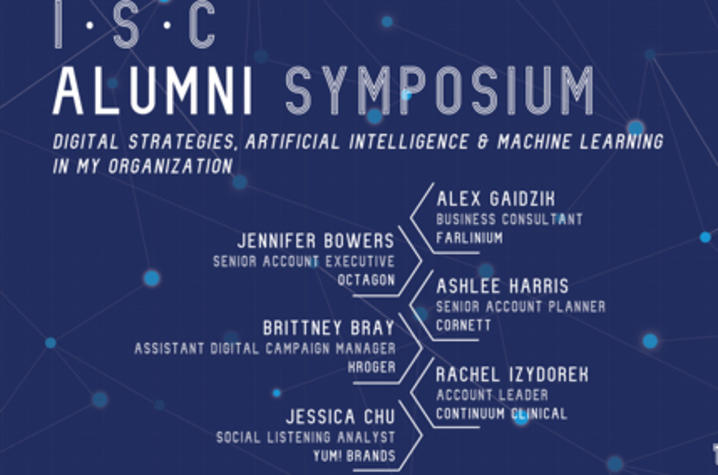 The Department of Integrated Strategic Communication (ISC) is hosting its annual ISC Alumni Symposium.