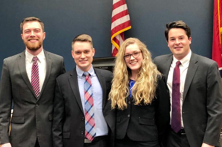 Photo of Trial Advocacy Board Mock Trial team