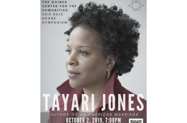 photo of 2019 Bale Boone Symposium poster for Tayari Jones talk