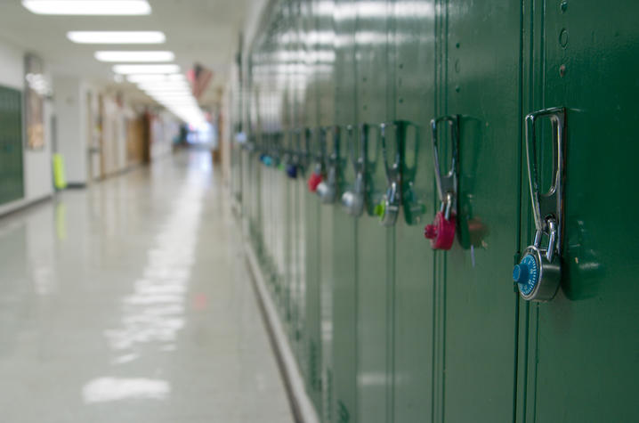 photo of hall of lockers