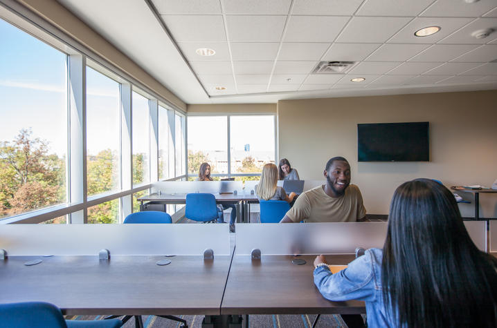 This is a photo of students in a University of Kentucky residence hall.