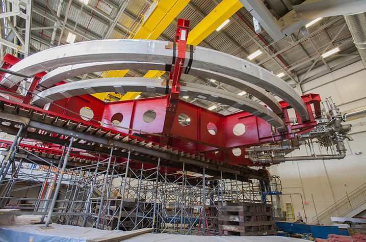 photo of superconducting electromagnet at Fermilab