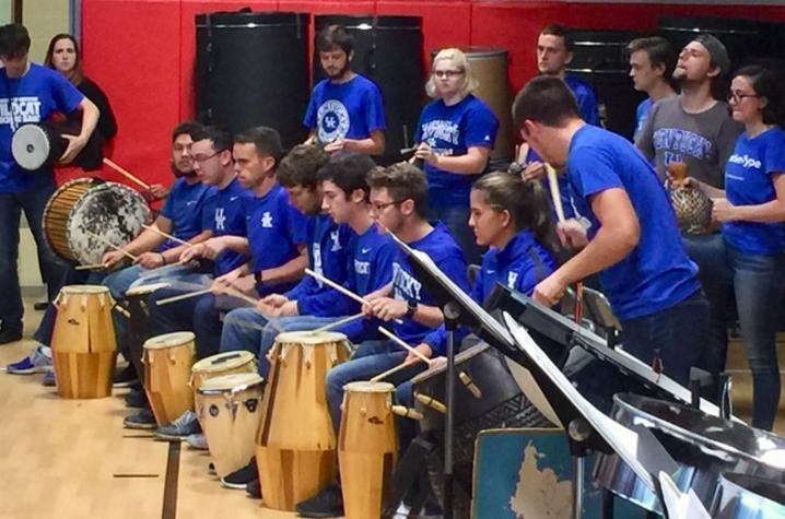 photo of UK Percussion Ensemble - Gahu