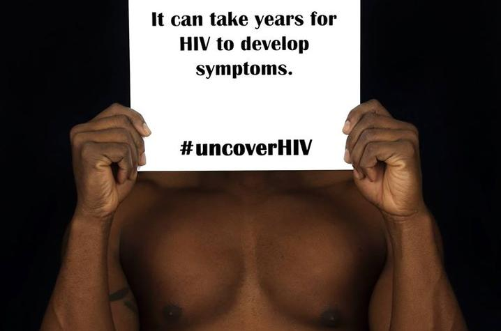 "photo from ""#UncoverHIV"" exhibit"