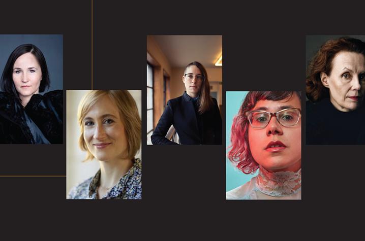 photo of six women composers on UKSO 2021-22 Season brochure