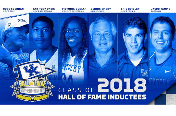 graphic of UK Athletics Hall of Fame inductees