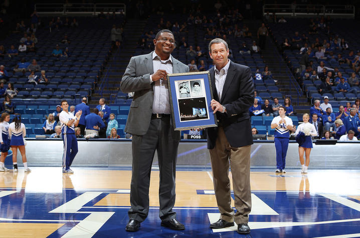 (L-R) UK Deputy Director of Athletics DeWayne Peevy, UK Director of Athletics Mitch Barnhart
